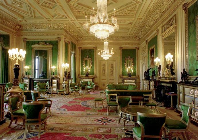 Inside Windsor Castle.