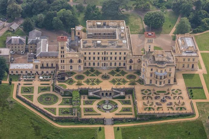 An aerial view of Osbourne House.