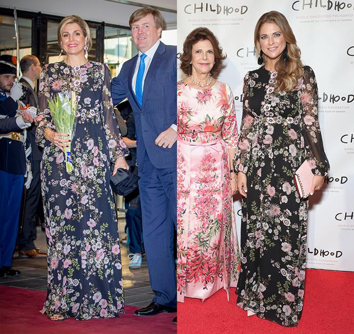 Both Queen Maxima of the Netherlands and Princess Madeleine of Sweden have donned this dramatic Giambattista Valli gown.