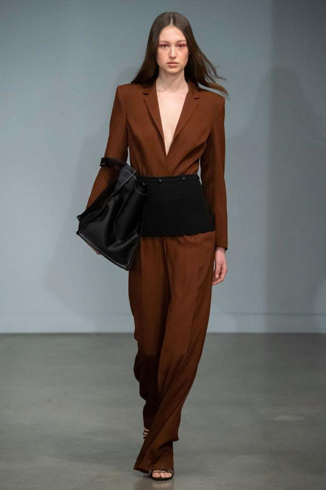 **Enhanced Neutrals:** Earth brown at *Christopher Esber Resort 2020*