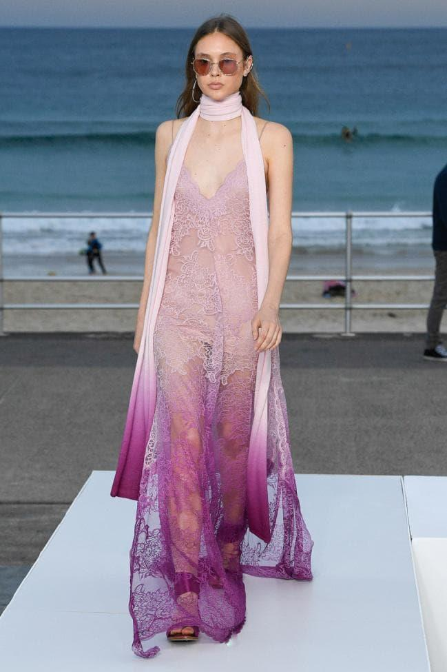 **Digital Brights:** Purple wave at *Jonathan Simkhai Resort 2020*
