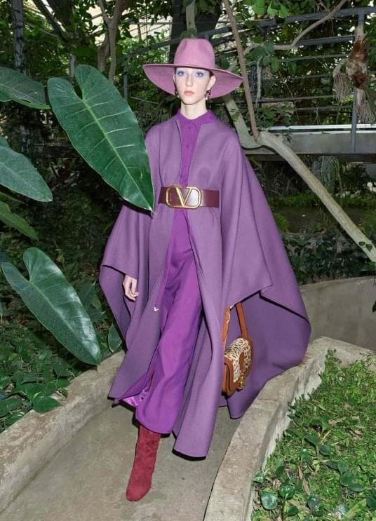 **Digital Brights:** Purple wave at *Valentino Resort 2020*