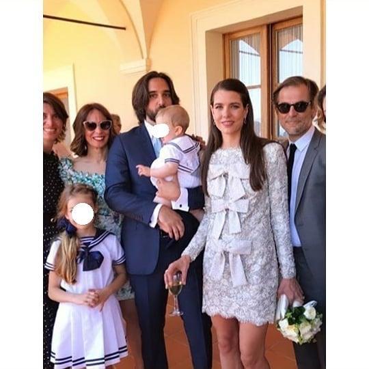 "The bride, groom and their seven-month-old son, Balthazar.<br><bR> Via [@charlotte.casiraghi](https://www.instagram.com/p/ByN9jM3BCju/|target=""_blank""|rel=""nofollow"")."