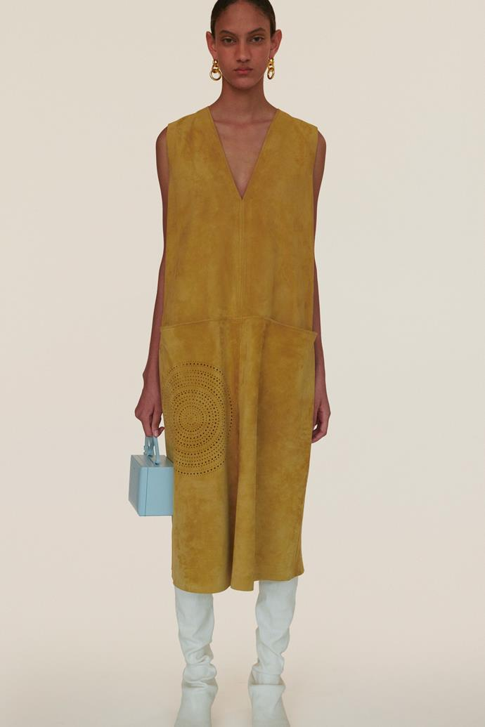 **Enhanced Neutrals:** Turmeric yellow at *Jil Sander Resort 2020*
