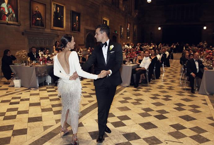 **On the first dance song:** We danced to 'Can't Take My Eyes Off You' by Frankie Valli and The Four Seasons. We chose this song as not only do we love it but love that it is a song everyone knows and guarantee to enjoy and tap their toes too while we danced.