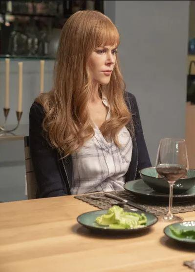 ***Celeste wearing Perry's shirt: Episode one***<br><br>  Season one's Celeste favoured luxurious long-sleeves and cashmere turtlenecks in an effort to cover up the signs of abuse at her husband Perry's hands. In the second season, however, Celeste can be seen wearing one of Perry's shirts. On one hand, this could be a sign that she is still mourning her husband, on the other, a symbol of her exhaustion and difficulty with remaining 'put together'. <br><br> *Image: HBO*