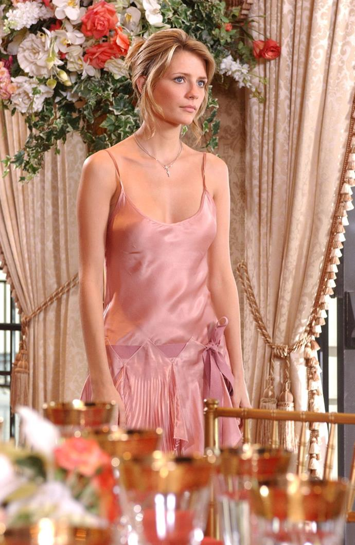 This pink satin number.
