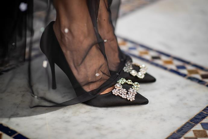 ***What sort of shoes should you wear to a wedding with a cocktail dress code?***<br><br>