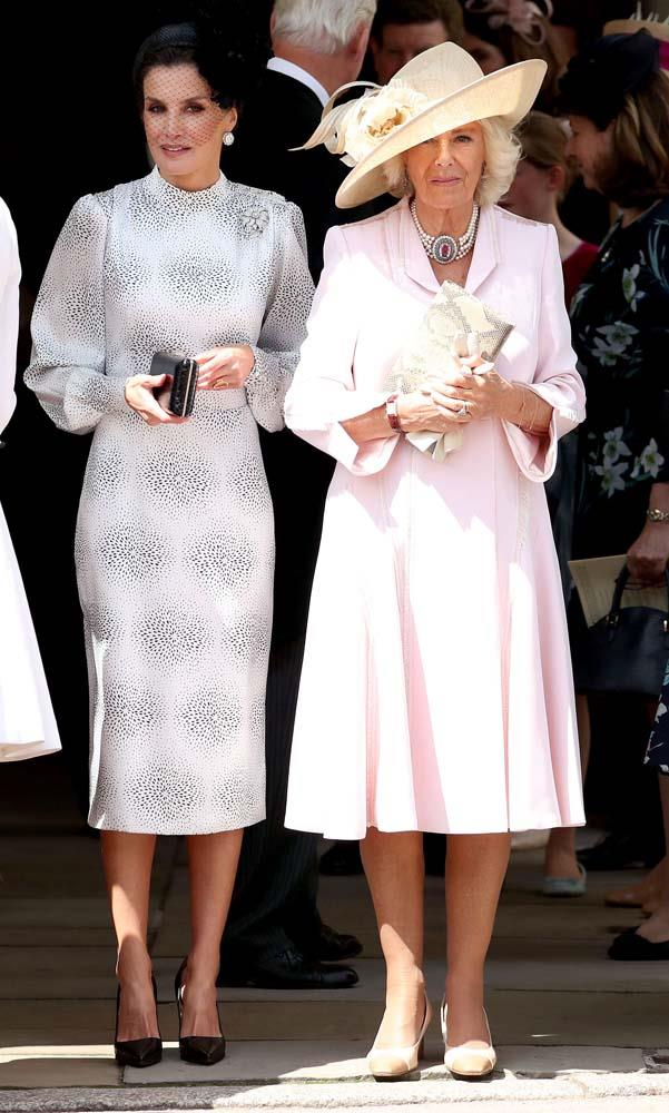 Queen Letizia of Spain and Camilla, Duchess of Cornwall.