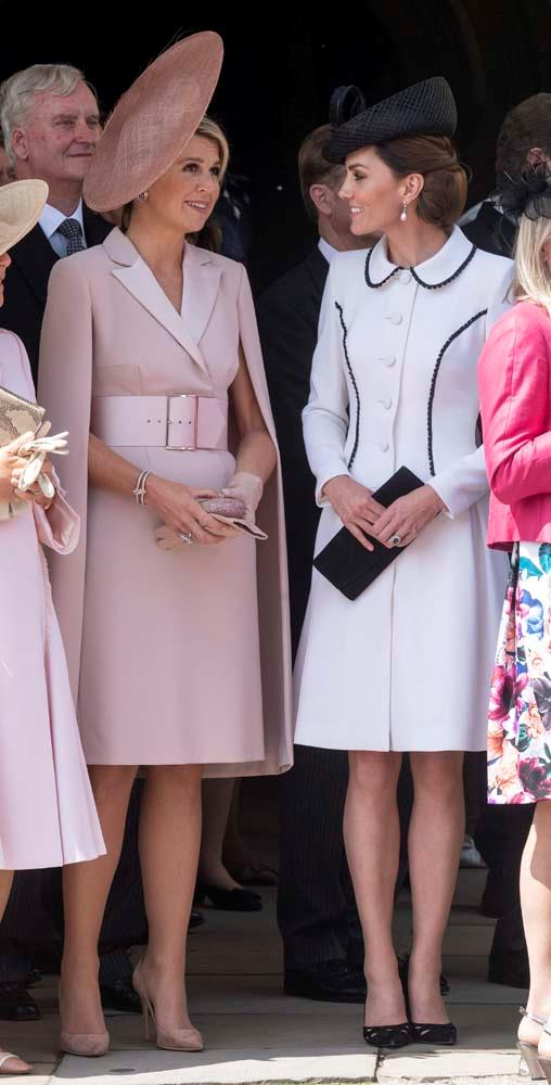 Queen Maxima of the Netherlands and Catherine, Duchess of Cambridge.