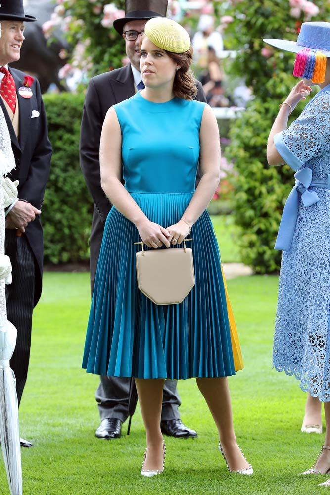 Princess Eugenie in Calvin Klein.