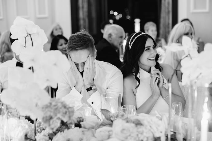 **On her favourite accessory:** I loved my Miu Miu reception headpiece. I bought this very soon after becoming engaged knowing it had to feature somewhere on my wedding day. I also had one of my grandma's beautiful silk handkerchiefs in my dress pocket knowing she was there with me.
