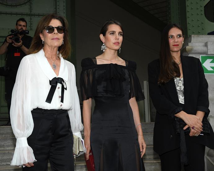 Caroline of Hanover, Charlotte Casiraghi, and Tatiana Casiraghi.