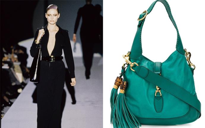 **1997: *Tom Ford-era Gucci bags*** <br><br> During his reinvention of Gucci, Tom Ford became a famous purveyor of the It-bag. <br><br> From his modernised iterations of older styles (i.e. the Gucci 'Jackie' bag, named after Jackie Kennedy), to his famous horsebit chain bags, Gucci bags became a fashion girl's must-have.