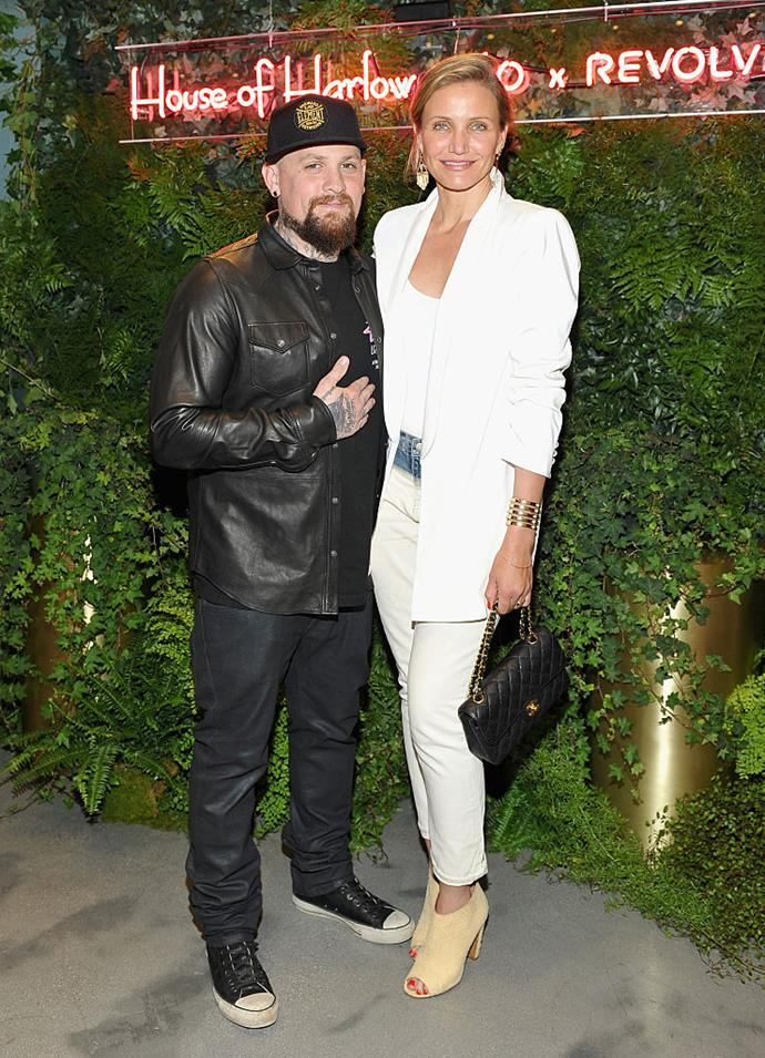 **Cameron Diaz and Benji Madden** <br><br> This adorable Hollywood couple, who have been married since 2015, are polar opposites physically—she's tall and California cool, he's short with a rock'n'roll edge—but they're a perfect match romantically.