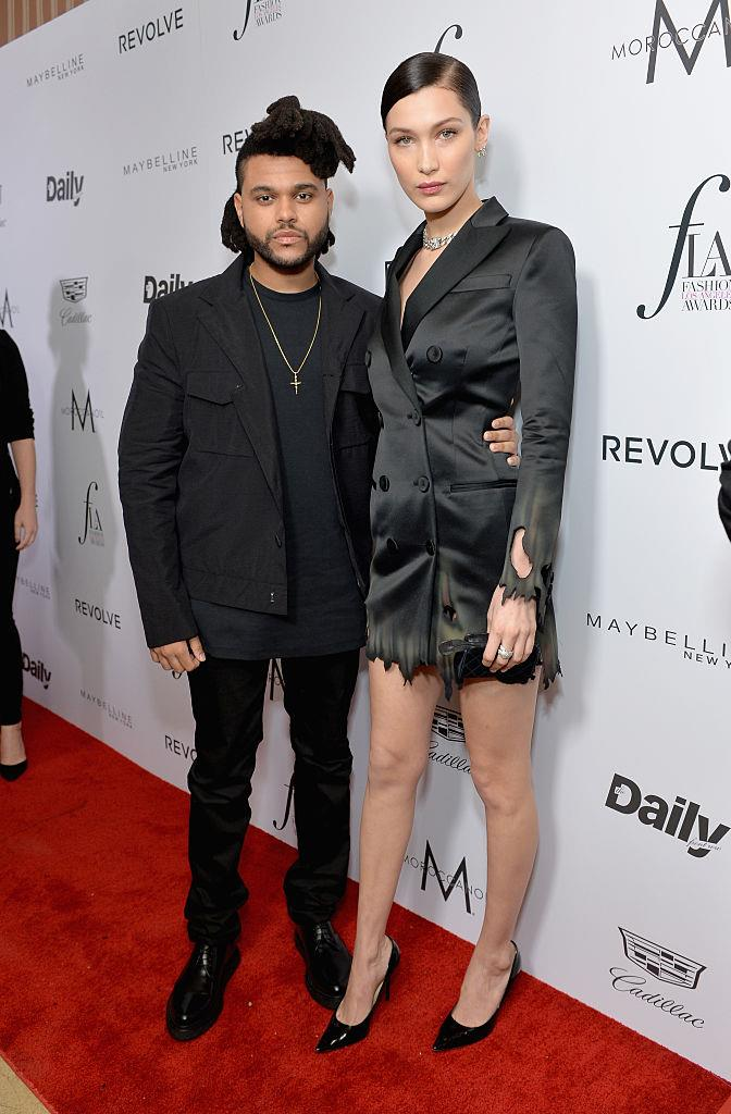 **Bella Hadid and The Weeknd** <br><br> While they may no longer be together, supermodel Hadid and her musician boyfriend were the perfect example of a height difference done right. While there's not much between them when Hadid is in flats, her 175 cm frame seems a whole lot taller than The Weeknd's 173 cm when she's in heels.