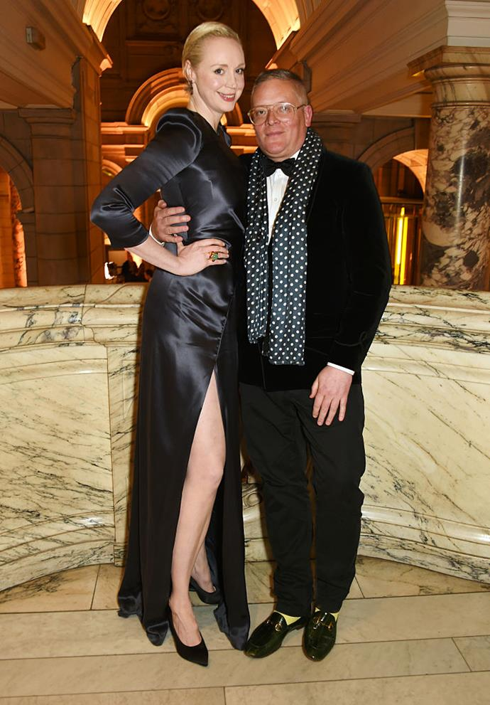 **Gwendoline Christie and Giles Deacon** <br><br> At almost two metres tall, *Game of Thrones*'star Gwendoline Christie was always going to eclipse her love interests in height, no matter how statuesque they are. Fashion designer Giles Deacon is no exception.