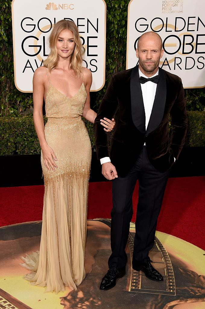**Rosie Huntington-Whiteley and Jason Statham** <br><br> Huntington-Whiteley towers over her action-star husband, a reality not helped by the fact she possesses a penchant for high heels.