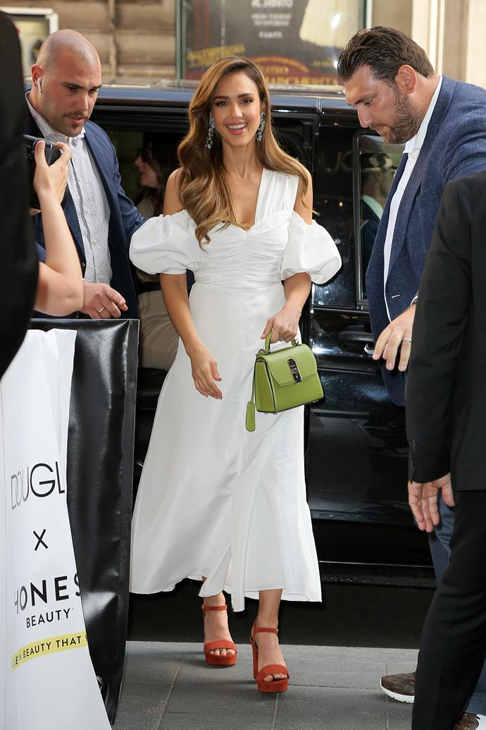 Jessica Alba in Rome on June 22, 2019.