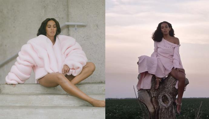 **'Cranes in the Sky' by Solange (2016)** <br><br> Solange has arguably the most consistent album aesthetics of any artist, which she shows off effortlessly in the 'Cranes In The Sky' video. In it, the singer becomes one with nature in an array of pastel outfits, making one of the most Instagrammable videos ever.