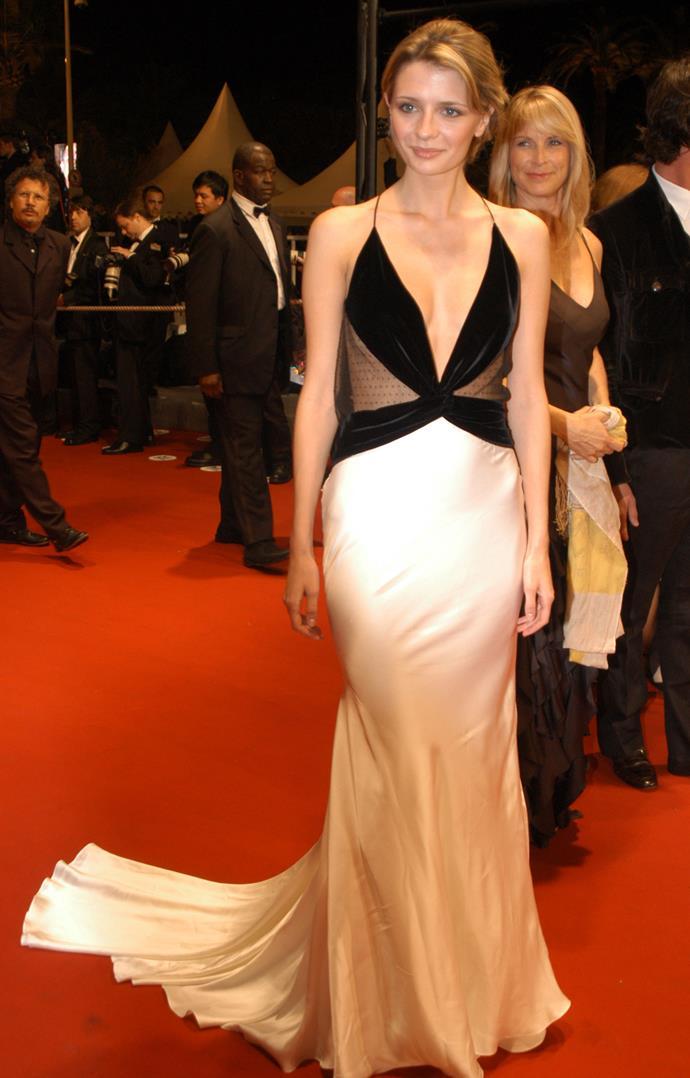 In Roberto Cavalli at the 2005 Cannes Film Festival.