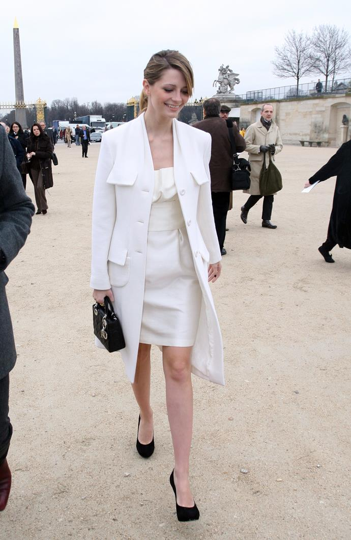In Christian Dior at one of the label's shows in 2007.