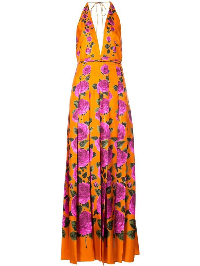 Gucci Rose Garden print dress.