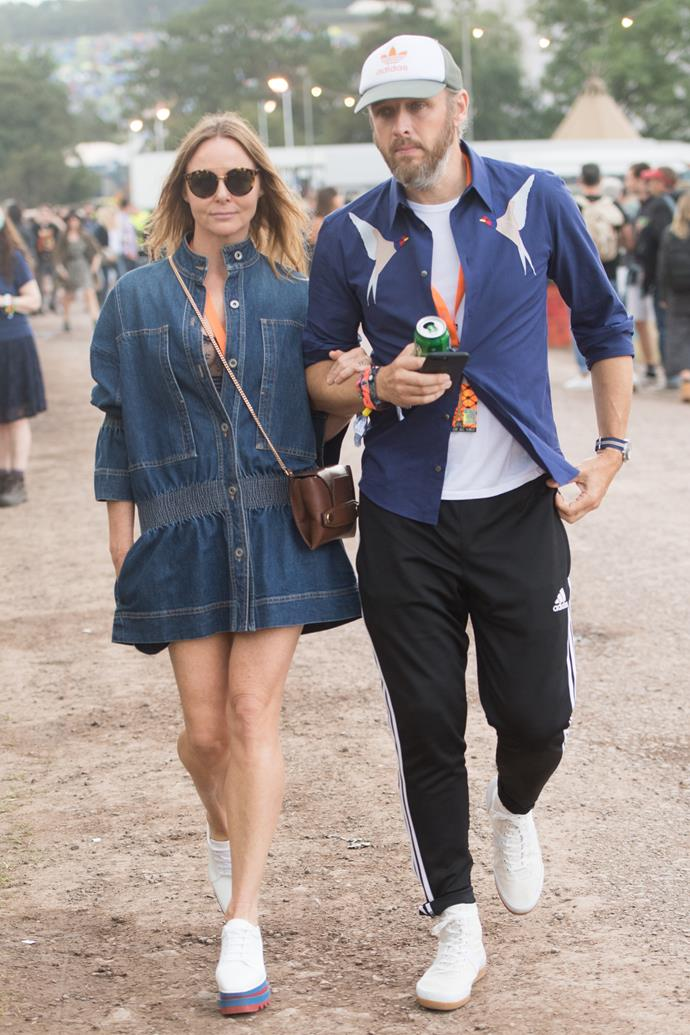 Stella McCartney and her husband, Alasdhair Willis, in 2017.