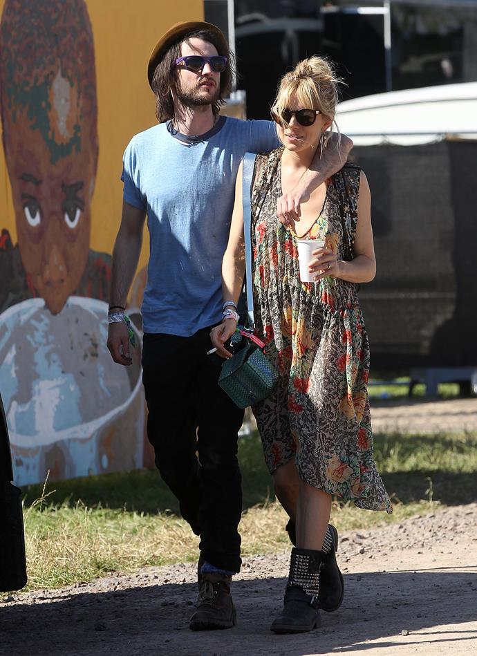 Sienna Miller and Tom Sturridge in 2013.