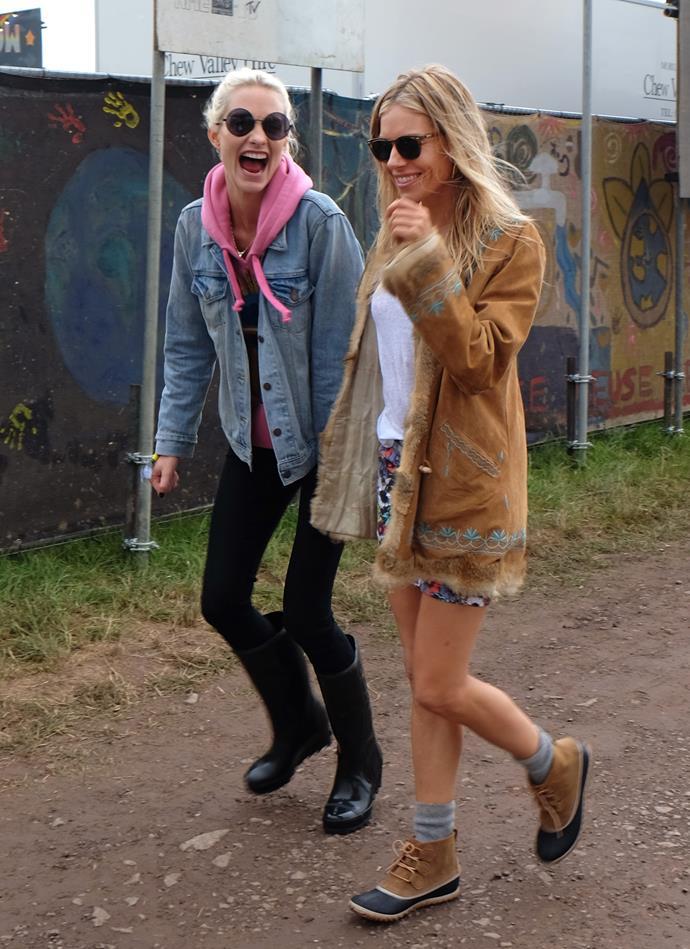 Poppy Delevingne and Sienna Miller in 2017.