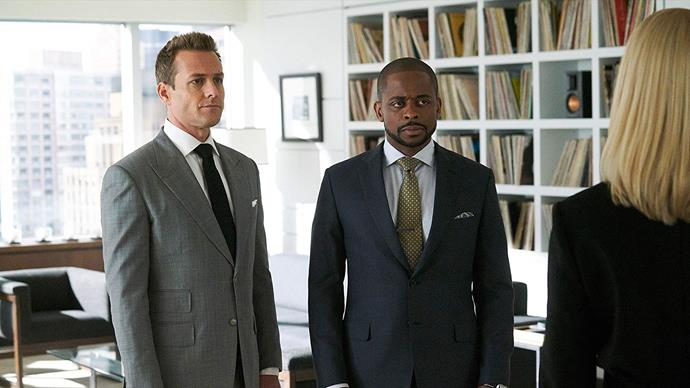 ***Suits* season eight (July 19)** <br><br> In the wake of two emotional departures, Harvey and the rest of Specter Litt face an infusion of ambitious new blood and chart a daring new course.