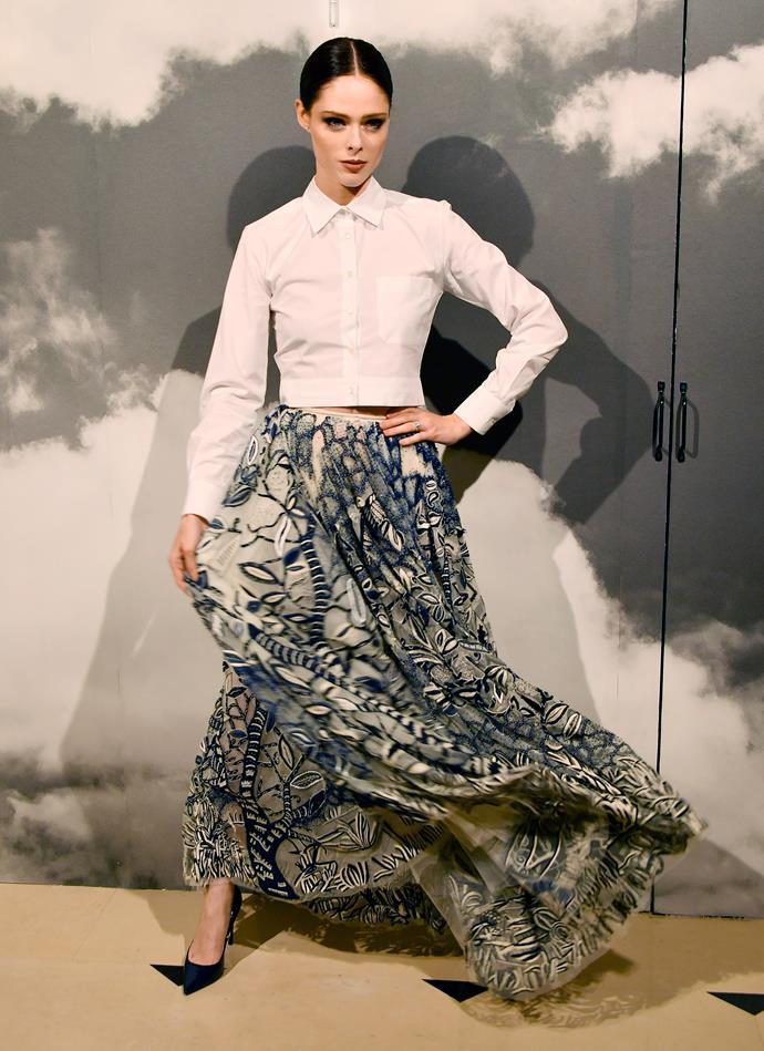 Coco Rocha at Dior.
