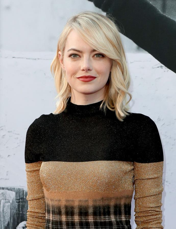 """**Emma Stone's real name is Emily Jean Stone** <br><br>  Stone's birth name is actually Emily Jean Stone. She told *[W Magazine](https://www.wmagazine.com/gallery/emma-stone-natalie-portman-michelle-williams-and-more-are-the-best-performances-of-the-year/all