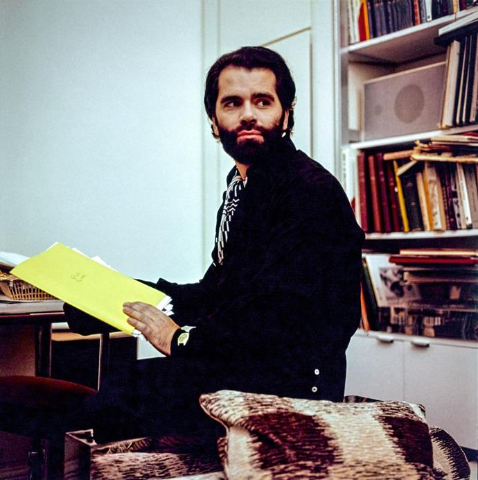 Lagerfeld at home in 1974.