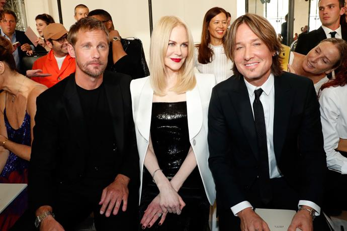 Alexander Skarsgård, Nicole Kidman, and Keith Urban at Armani Privé.