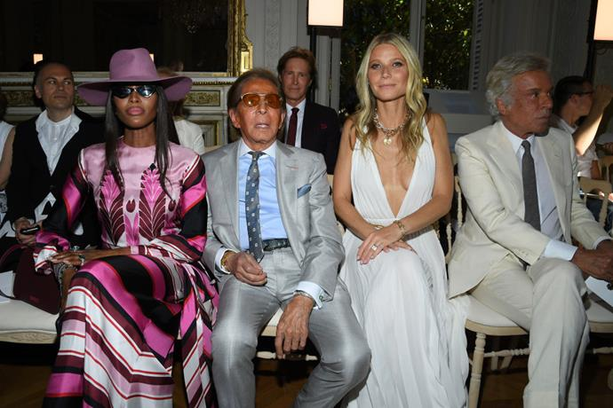 Naomi Campbell, Valentino Garavani, Gwyneth Paltrow, and Giancarlo Giammetti at Valentino.