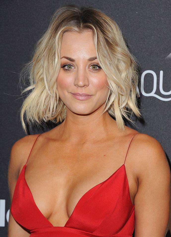 "**Kaley Cuoco** <br><br> As one of the highest-paid actresses on television, Cuoco has admitted to a handful of cosmetic surgeries, including breast enlargement and rhinoplasty. <br><br> She's also said she doesn't regret any of it, and told *[Women's Health](https://www.womenshealthmag.com/|target=""_blank""