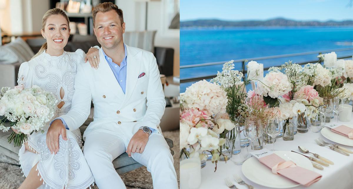 This Bride Wore A Stunning White Zimmermann Wedding Dress