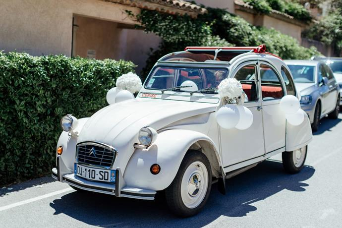 **On the most memorable moment of the day:** Our wedding planner Lucy organised the little vintage Citroën as a surprise for us on the day! I don't know how she found this car in such a small time frame but it was so perfect and it was exciting for me as it was something that I hadn't planned!