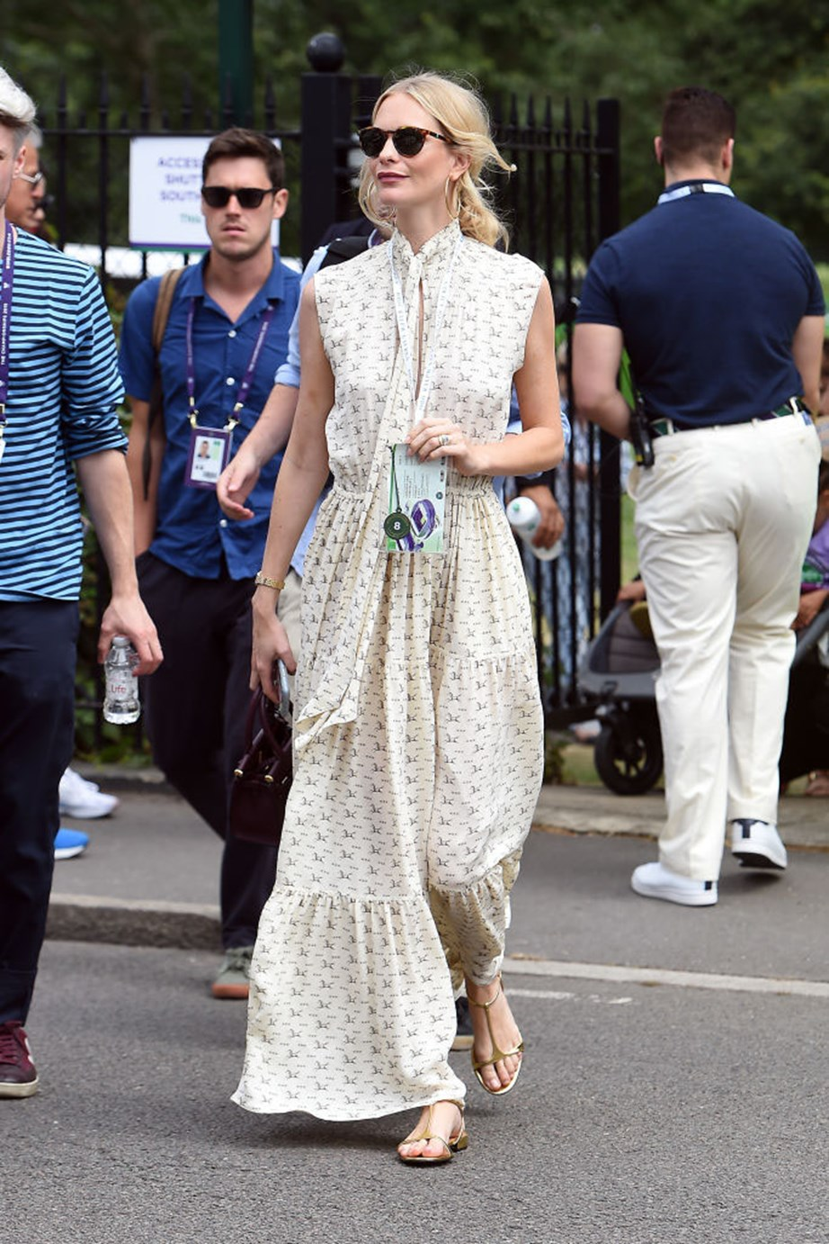 """***Poppy Delevingne***<br><br> """"Poppy Delevingne's breezy floral frock is giving me serious warm-weather envy (and making me feel quite drab about my current rotation of head-to-toe black winter dressing)."""" Janna Johnson O'Toole, beauty and wellness director."""