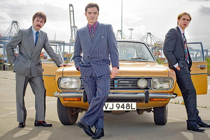 ***White Gold*** <br><br> For fans of: *Mad Men*, *Peaky Blinders* and *The Inbetweeners* <br><br> Set in 1980s Essex, this gaudy British comedy follows charismatic window salesman Vincent Swan (played by Ed Westwick) and his team of dodgy salesmen who will do anything to seal a deal.