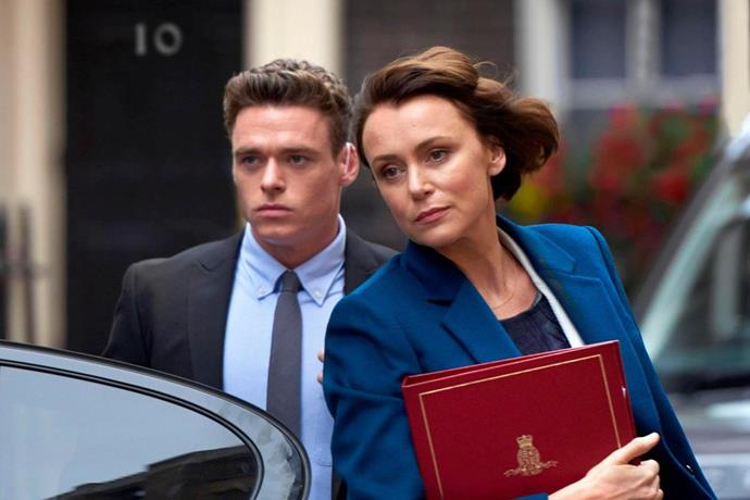 ***Bodyguard*** <br><br> For fans of: *Arrested Development*, *Fleabag* and *The Inbetweeners* <br><br> *Game of Thrones* star Richard Madden plays a war veteran who, after helping to prevent a terrorist attack on a train, is assigned as the bodyguard to a controversial female politician who was one of the drivers of the conflict he fought in. Tormented by his past, he must battle between the need to protect and serve, and the desire to seek revenge.