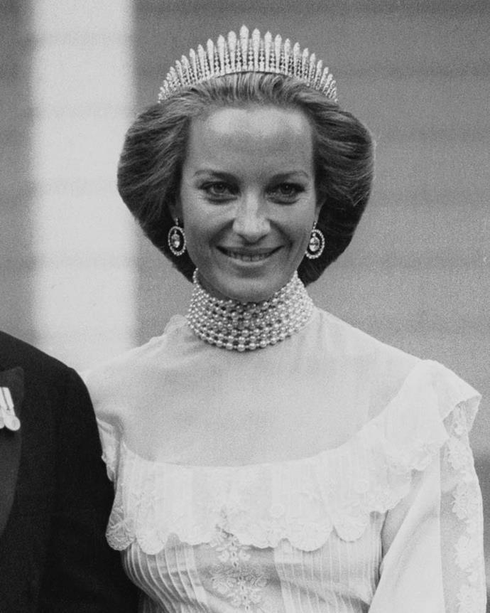 Princess Michael of Kent wearing the Kent City of London Fringe Tiara.