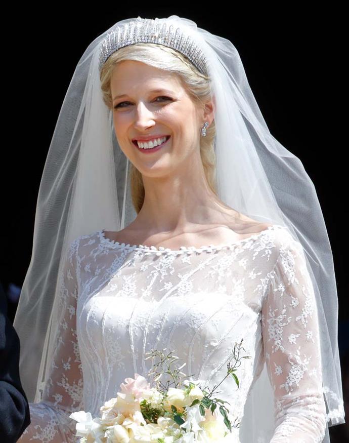 Lady Gabriella Windsor wearing the Kent City of London Fringe Tiara.