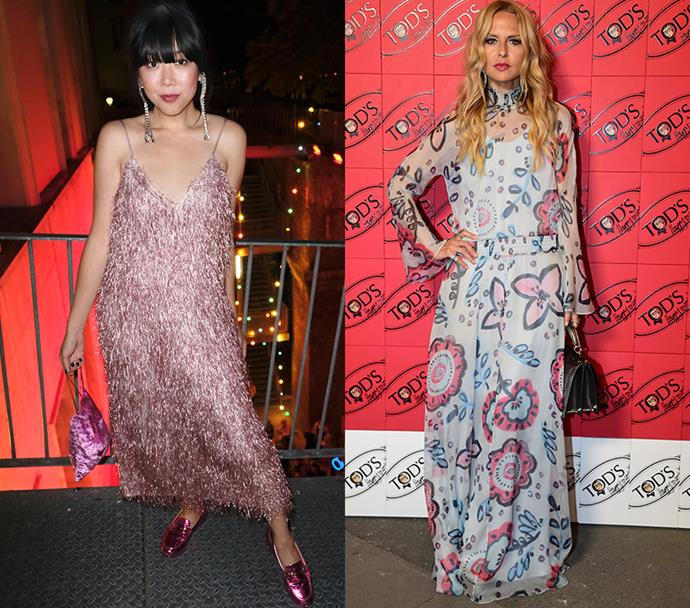 Susie Lau (left); Rachel Zoe (right)