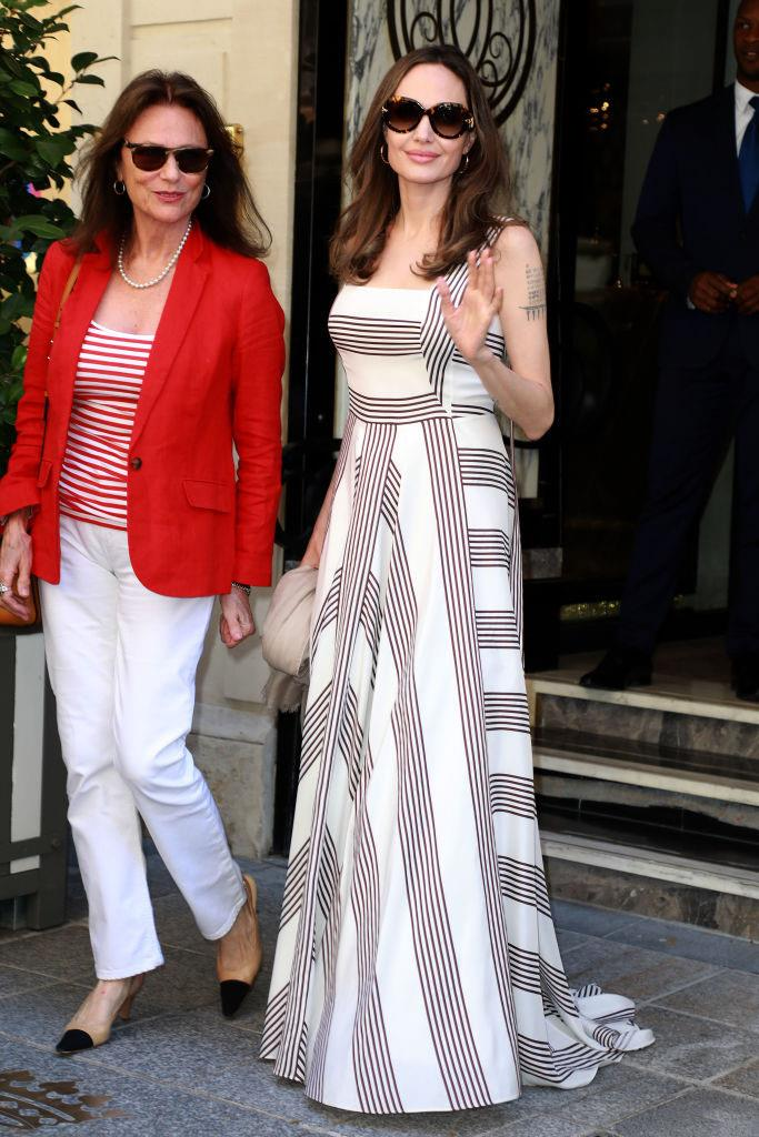 Jolie and her godmother, actress Jacqueline Bisset, in Paris on July 9, 2019.