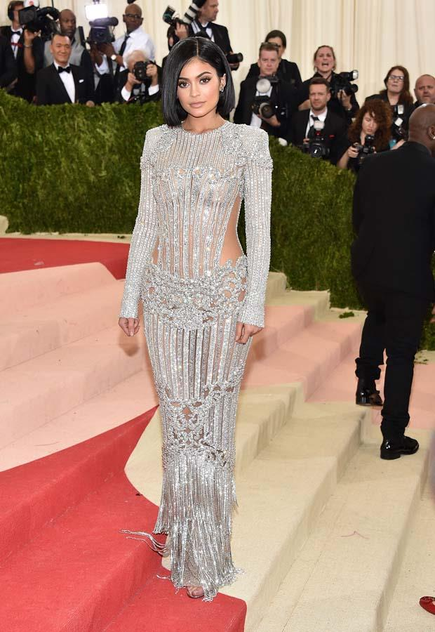 "*Kylie Jenner's very pointed dress*<br><br> After attending the 2016 Met Gala in embellished Balmain couture, Jenner showed off the aftermath of her fashion moment.<br><br> ""When ur dress made you bleed and ur feet are purple,"" she wrote on Instagram, adding later: ""It was worth it though."""