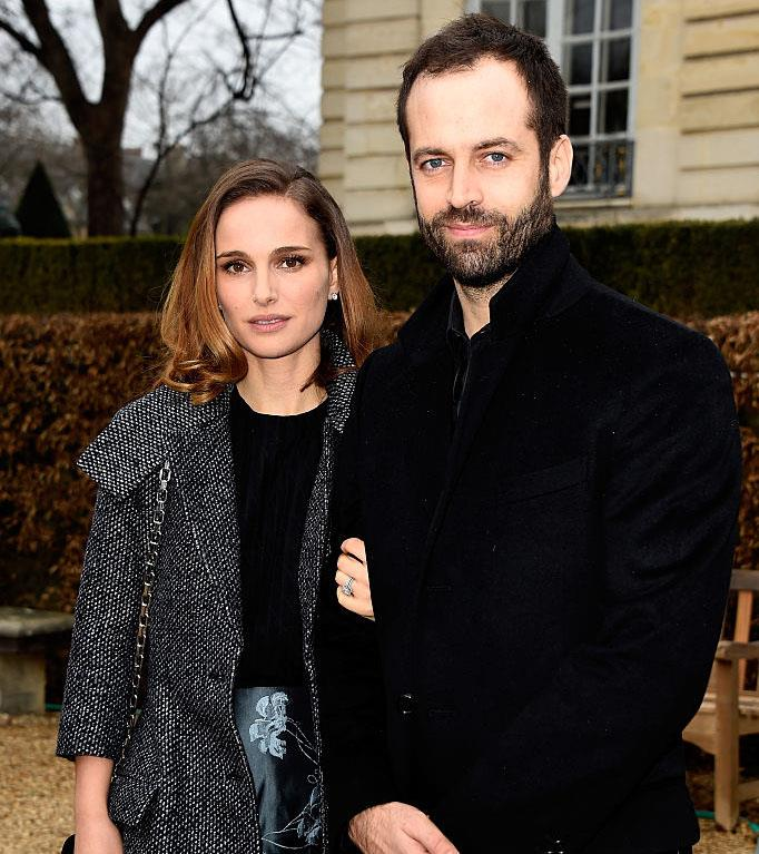 **Natalie Portman and Benjamin Millepied** <br><br> Portman met Millepied, a professional dancer, on the set of the 2010 film *Black Swan*—a role that eventually earned her an Academy Award. The couple welcomed Aleph, their son, before they were officially married in 2012. They later welcomed another daughter, Amalia, in 2017. <br><br> *Image: Getty*