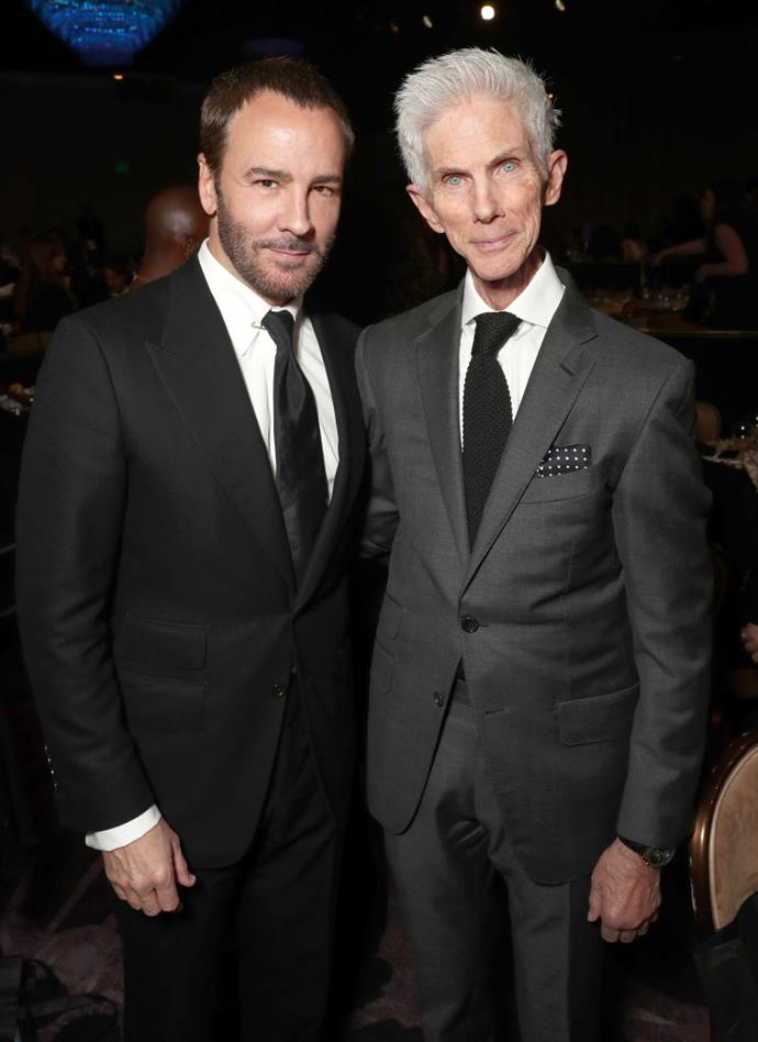 "**Tom Ford and Richard Buckley:** The fashion designer married Buckley, a fashion journalist, in 2014, after finding what he described as ""love at first sight"". However, Ford has said that monogamy isn't really their speed. ""I think that monogamy is artificial. I do not think it's something that comes naturally to us,"" he told *New York Magazine*."