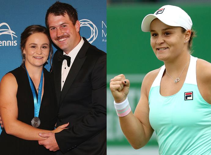 "**Garry Kissick, boyfriend of Ash Barty** <br><br> Australian tennis sweetheart Ash Barty has been happily dating amateur golfer Garry Kissick for roughly two years, and he is a fixture at all of her matches. After Barty's 2019 Wimbledon defeat, Kissick shared a sweet tribute to his partner on Instagram, writing: ""So proud of everything you have achieved over the past 12 weeks away from home babe and grateful to be able to be with you and watch you play."""